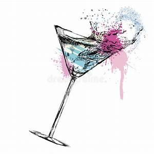 Cóctel De Martini Con Ejemplo Del Vector Ilustración del Vector Ilustración de hielo, lista