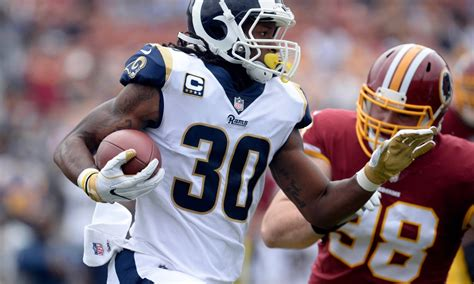 todd gurley perfectly hurdle  redskins defender