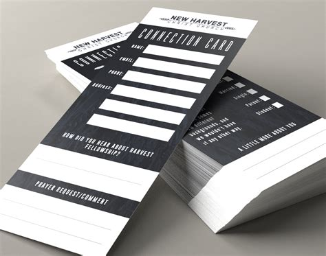 church connection card template church connection cards color printing printplace