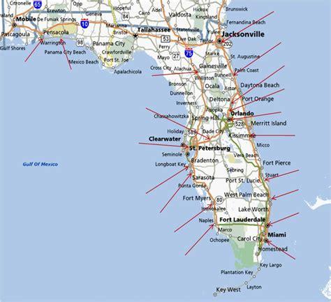 florida east coast beaches map my blog