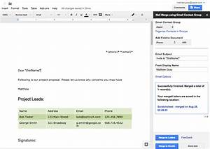 Vincent39s reviews the 32 best google docs add ons in 2017 for Google documents mail merge