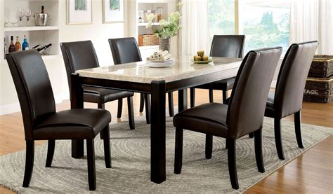 Gladstone I China Marble Table Top Dining Room Set From