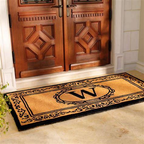 doormat for doors hudson monogrammed door mat frontgate