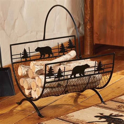 fireplace wood holder metal firewood log holder