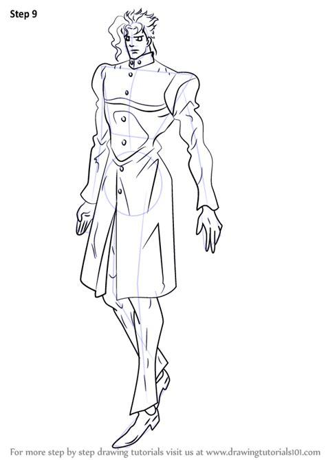 learn   draw noriaki kakyoin  jojo jojos bizarre adventure step  step drawing