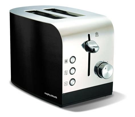 Metal Toaster by Morphy Richards Black 2 Slice Stainless Steel Toaster With