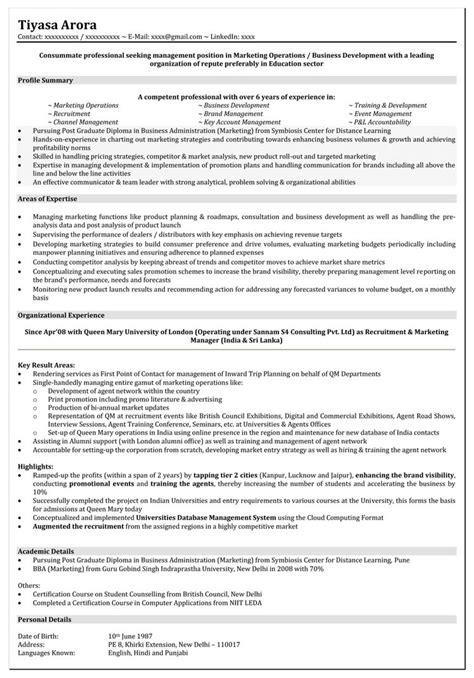 resume format  years experience resume templates