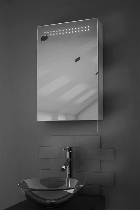 sheva led illuminated battery bathroom mirror cabinet