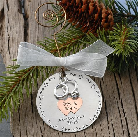 personalized wedding christmas ornament our by divinestings