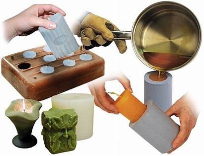 Candle Making Candles Silicone Smooth Materials Mold