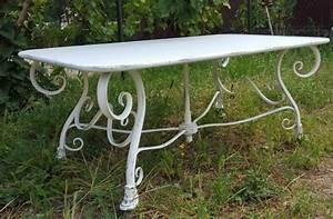 Table Fer Forgé Jardin : table basse de jardin rectangulaire en m tal fer forg arras ~ Teatrodelosmanantiales.com Idées de Décoration