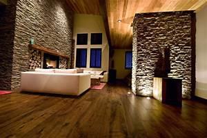 Wohnzimmer Ideen Wandgestaltung : natursteinwand im wohnzimmer die natur zu hause empfangen ~ Orissabook.com Haus und Dekorationen