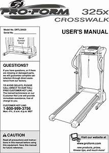 Proform Drtl39420 Crosswalk 325x Treadmill Users Manual