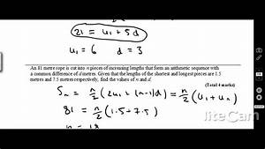 Arithmetic Sequences And Series Exam Questions For Ib Hl