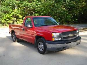 Sell Used Red Chevy 2wd Manual 1500 Silverado Reg Cab In