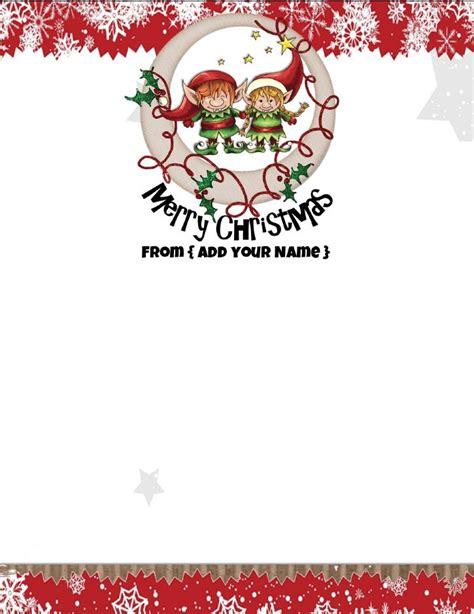 free christmas stationery free personalized stationery