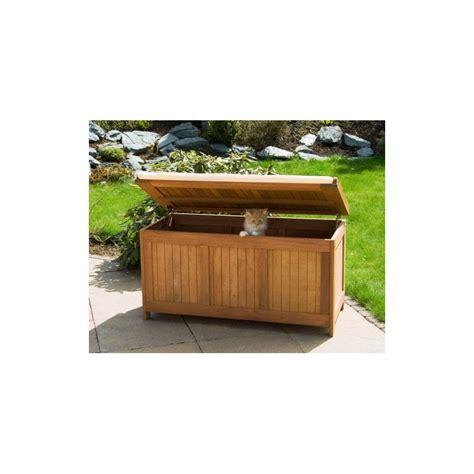 banc coffre cuisine banc coffre de rangement jardin extérieur en bois avec coussin