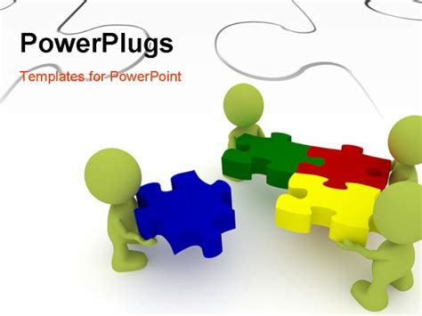 powerpoint puzzle template  editable jigsaw pieces