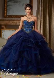Flounced Tulle Quinceañera Dress Style 89118 Morilee