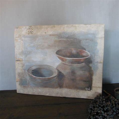houten paneel met kruiken