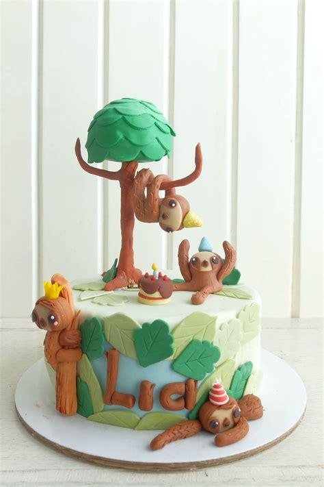 cakes   sloth cottontail cake studio sugar art