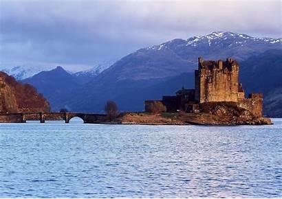 Castle Eilean Donan Scotland Wallpapers Lake Bridge