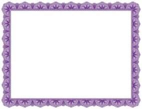 Purple Award Certificate Border
