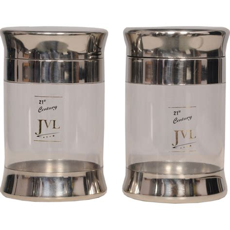 Kitchen Containers Naaptol by Buy Jvl Set Of 2 Big Stainless Steel Containers Silver