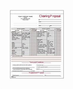 cleaning proposal template 12 free word pdf document With office cleaning contract template