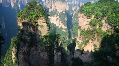 chinese mountains trees desktop pc  mac