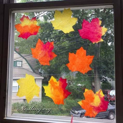 Herbstdeko Fenster Schnell by Herbststimmung Basteln Mit Kindern Nestling