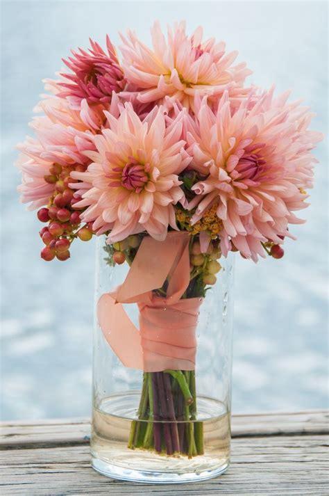Coral Dahlia Wedding Bouquet Bouquet Wedding Flower