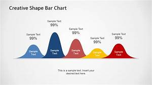 Powerpoint Template Curved Lines For Chart Presentation
