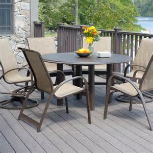 telescope casual primera 6 person sling patio dining set