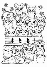 Hamtaro Coloring Pages Series Tv Picgifs sketch template