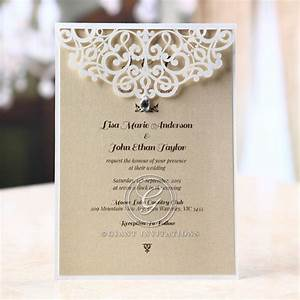 jeweled laser cut modern wedding invitations With wedding invitations with engagement pictures