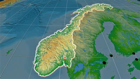 Norwegen Physische Karte der Erleichterung - OrangeSmile.com