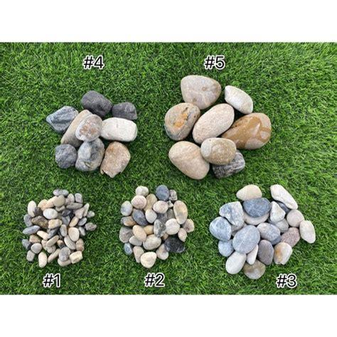 หินแม่น้ำ หินแต่งสวน สีฟ้าเทาเบอร์ 1,2,3,4,5 | Shopee Thailand