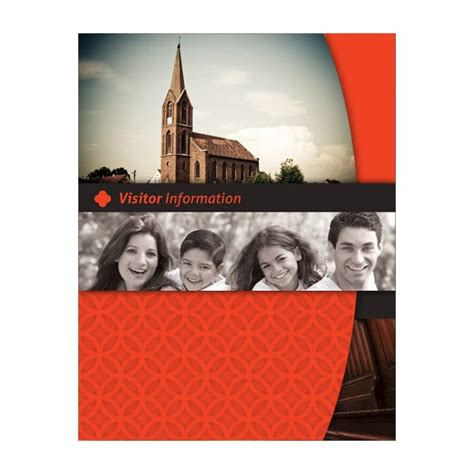happy church visitor folder packet card template