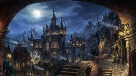 darkness landmark gothic architecture fantastic art