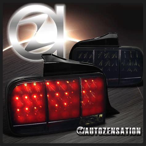 05 mustang sequential tail lights 05 09 ford mustang glossy black led integrate sequential