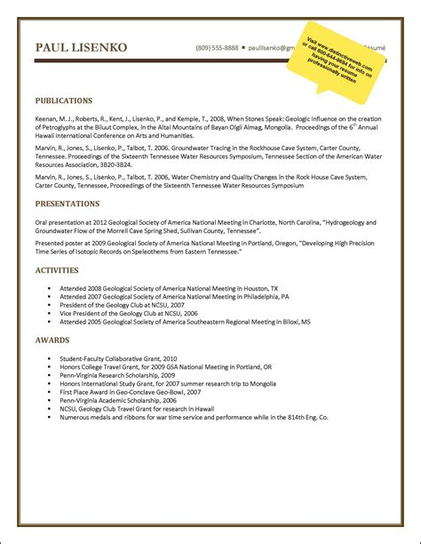 Exle Geology Resumes by Geologist Resume Sle Project Summary Report Sle