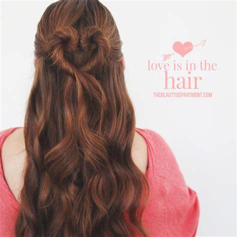 valentine s day hairstyles heart bun