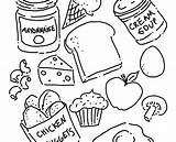 Coloring Pages Food Sheets Beef Chicken Meat Canned Printable Foods Getcolorings Roast Natural Getdrawings Print sketch template