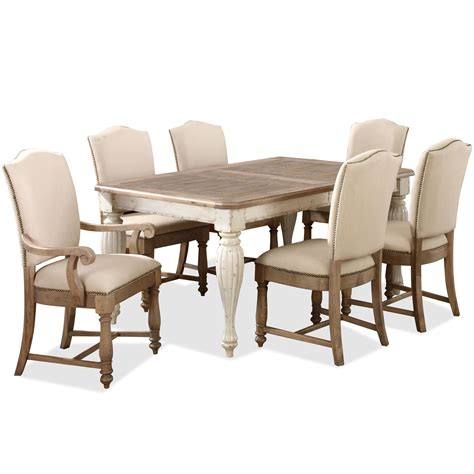 rectangular leg dining table with 18 quot leaf by riverside