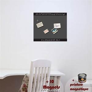 Papier Peint Magnétique : papier peint magn tique peinture magn tique avec sticker ~ Premium-room.com Idées de Décoration