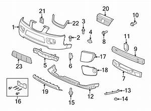 2006 Saturn Vue Bumper Cover Support Rail  Front  Upper