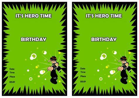 ben  birthday invitations birthday printable