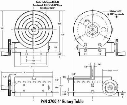 Sherline Dimensions Standard Rotary Table Drawing Tools