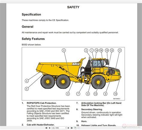 bell dump truck part  repair manual auto repair